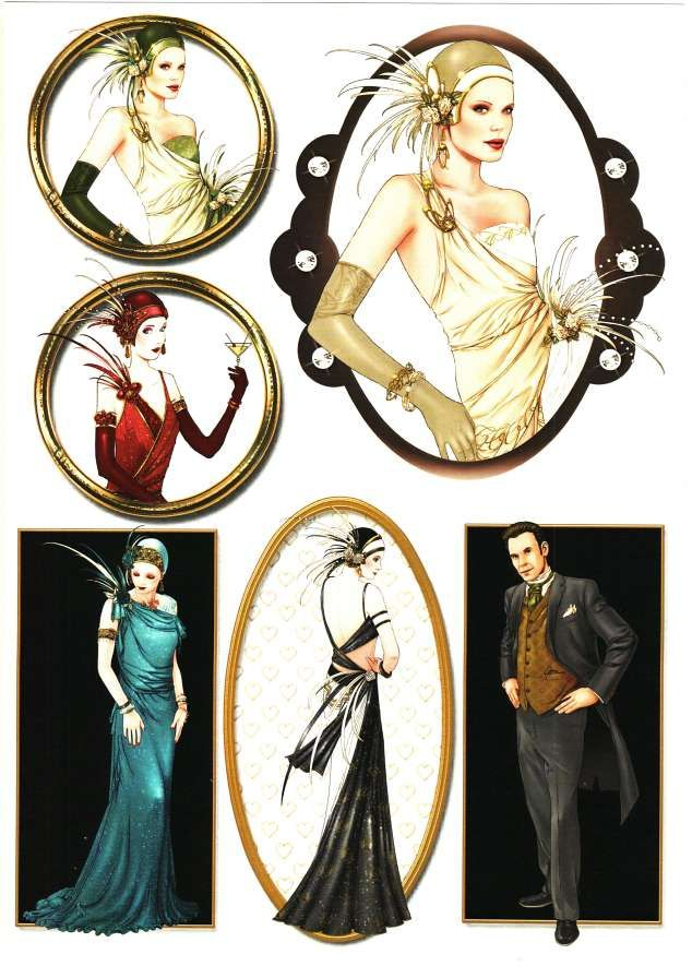 debbi moore designs art deco paris card toppers 12 3d. Black Bedroom Furniture Sets. Home Design Ideas