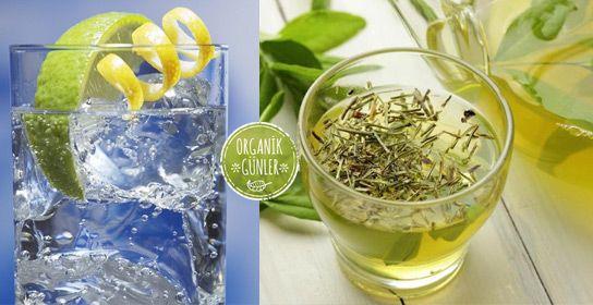 Maden Suyu, Yeşil Çay ve Limon ile Zayıflama Çayı
