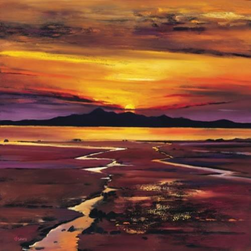 Art Prints Gallery - Fading Sun, Arran (Limited Edition), £139.00 (http://www.artprintsgallery.co.uk/Davy-Brown/Fading-Sun-Arran-Limited-Edition.html)