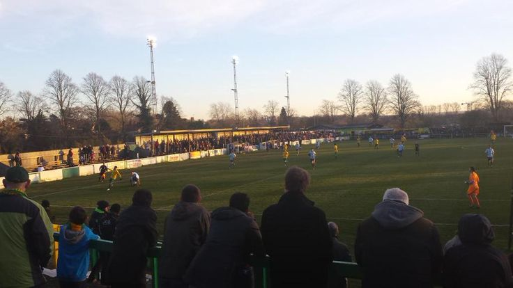 Something for the developers to mull on, an impressive turnout of 1,606 at Top Field for Hitchin Town v Poole Town