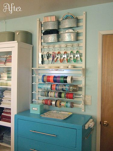 Side of crib (right?)craft supplies wall rack | Flickr - Photo Sharing!