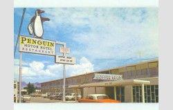 Pre-1980 PENGUIN MOTEL & RESTAURANT Las Cruces New Mexico NM HQ1178