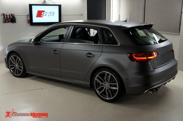 Audi S3 Matte Metallic Grey Vinyl Wrap Car Pinterest