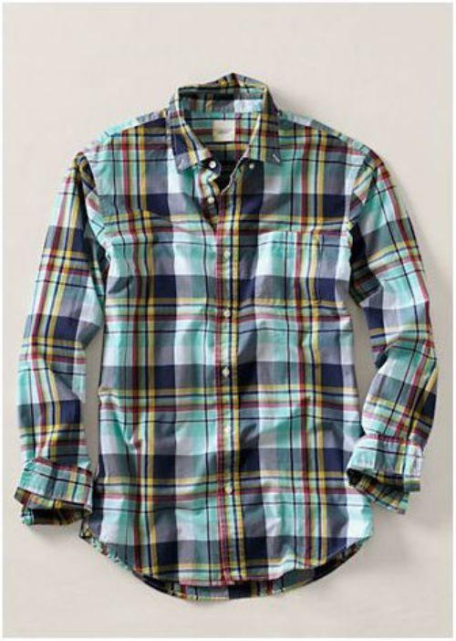 .: Casual Shirts, Men Style Spring Shirts, Plaid Poplin, Men Large, Land End, Poplin Shirts, Men Fashion, Plaid Shirts, Large Plaid