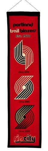 "Portland Trail Blazers 8"""" x 32"""" Heritage Banner Flag Winning Streak"