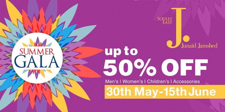 Upto 50% Off - Junaid Jamshed Summer Sale