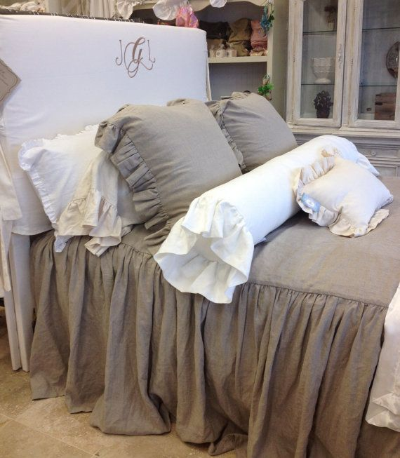 Queen All in One Bedspread 100 Linen Flax Color by ldlinens, $415.00