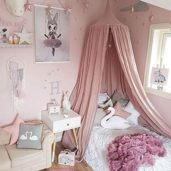 White Grey Pink Beige Boys Girls Kids Princess Canopy Bed Valance Kids Room Decoration Baby Bed Pinkart Us Kids Bed Canopy Pink Girl Room Princess Canopy Bed