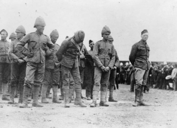Winston Churchill (right) as a P.O.W. along with other Brits in the Boer War, 1899.