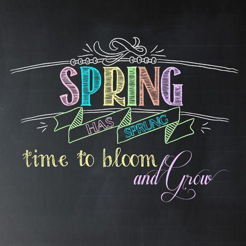 Friday's Freebie: Spring Has Sprung Chalkboard Printable