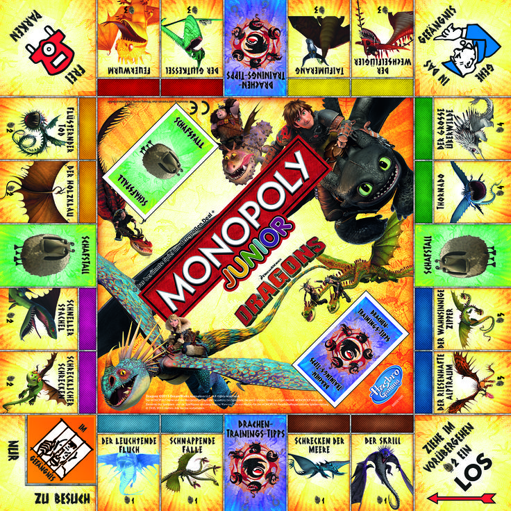 Monopoly Junior Dragons #Monopoly #Junior #Dragons #Ohnezahn #Hicks #Berk #Astrid