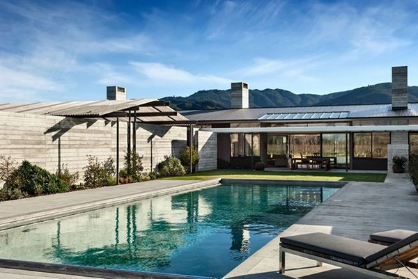 Escapism in new zealand beautiful home with wood and for Pool design new zealand