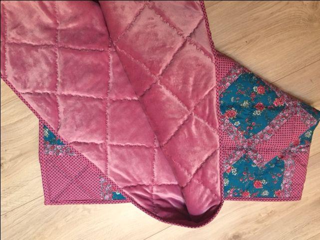 Deka+Patchwork+deka+patchwork+,+rozměr+200x105+cm,+spodní+strana+příjemný+česaný+fleece