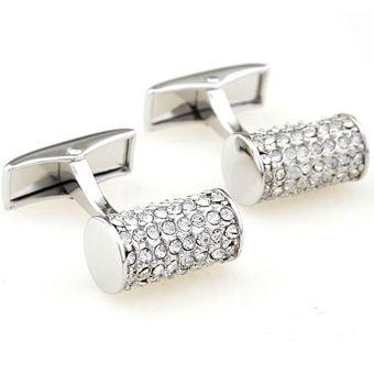 Deks Bros White Crystal Pearl Kol Düğmesi-Taşlı Kol Düğmeleri-DEKS BROS-DEKS BROS WHITE CRYSTAL PEARL KOL DÜĞMESİ-Taşlı Kol Düğmeleri-DEKS BROS-Kol Düğmesi, Kravat, Gömlek, hediye ve tüm aksesuar çeşitleri