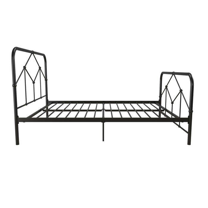 Francis Farmhouse Metal Platform Bed In 2020 Metal Platform Bed Metal Beds Platform Bed