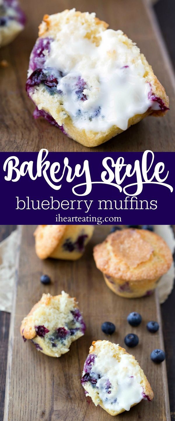 This Bakery Style Blueberry Muffin recipe makes a delicious treat that tastes like blueberry cake for breakfast!