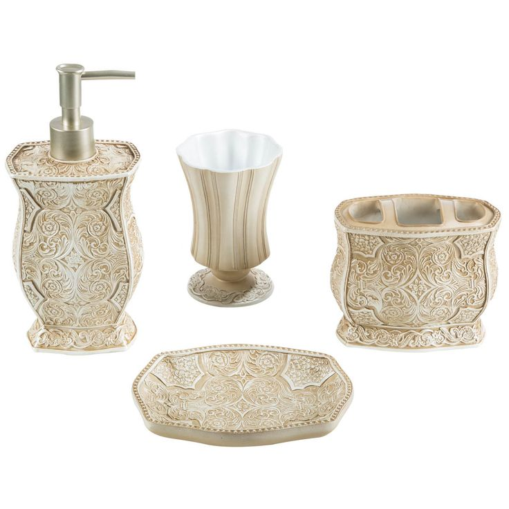 victoria bath accessory 4 piece set
