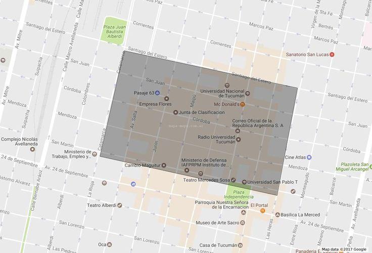 Barrio Microcentro de Tucumán