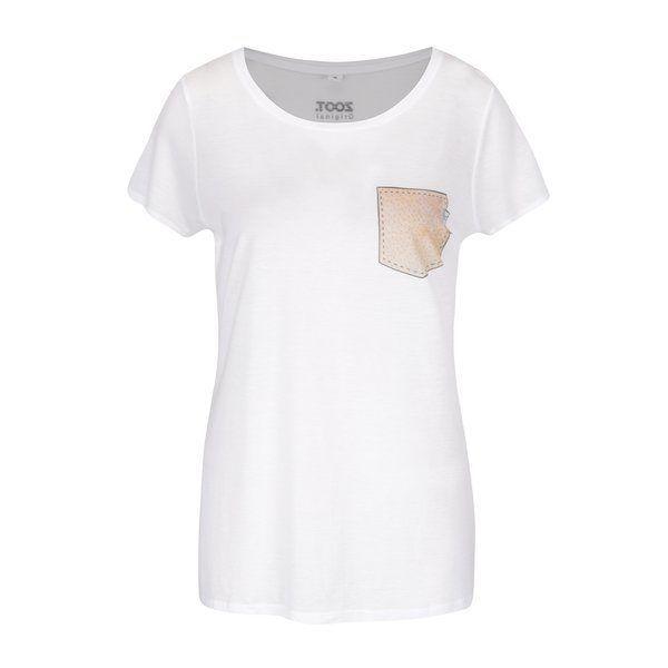PROMOTIE-Tricou alb de damă ZOOT Original 100% Șorici