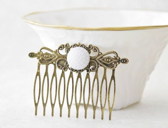 Victorian Bridal Hair Comb  Vintage Hair by SmittenKittenKendall, $12.00