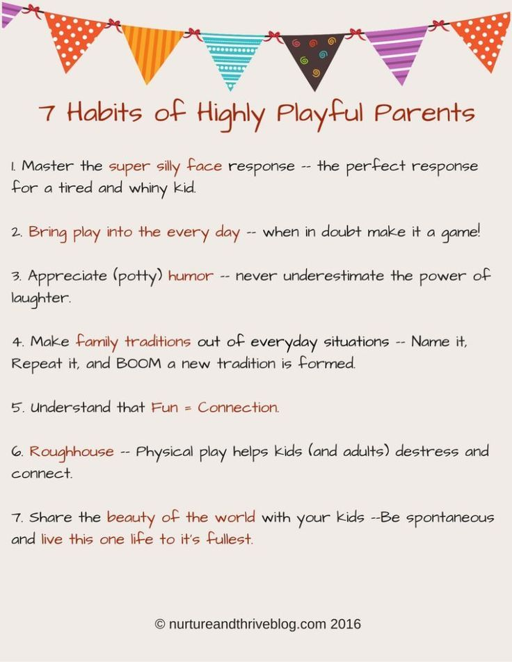 These are great! 7 Habits of Highly Playful Parents!