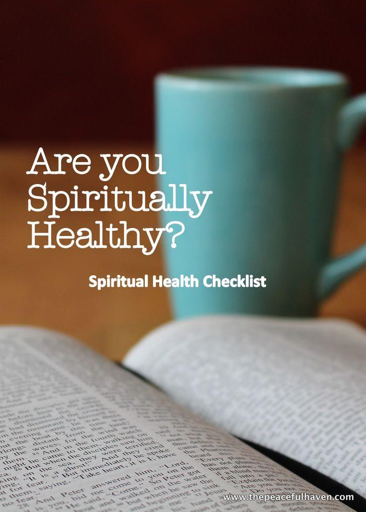 Spiritual Health Checklist