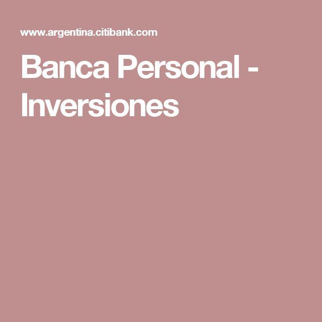 Banca Personal - Inversiones