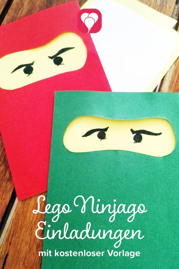 ninjago einladungskarten ile ilgili pinterest'teki en iyi 25'den, Einladungsentwurf
