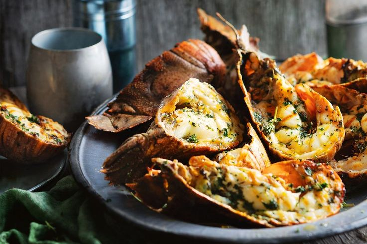 Herb and garlic loaded butter makes these Moreton Bay bugs even more irresistible, and only takes a lick of heat from the barbecue to cook.