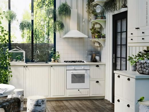 #IKEA METOD kitchen with KROKTORP doors and drawer fronts. Note to self: DONT get white cooker!