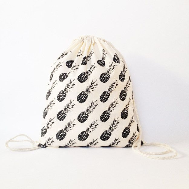 This drawstring bag. | 28 Products For People Who Think Pineapples Are Cute