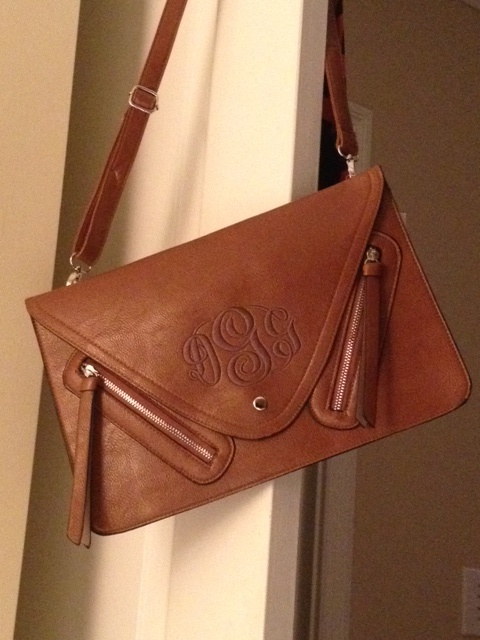 Elizabeth would certainly approve of this cross-body monogram clutch.  #12DaysofMcKay #elizabeth_mckay