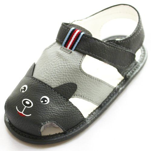 Soft Sole Toddler Baby Girls Boys Princess Sandals Small Wolf Dogs Shoes (12-18 months, Gray). Price: $28.90