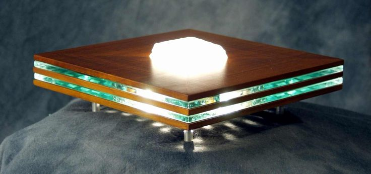 SCONCE   Wood cherry, glass