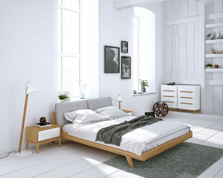 Mikkel is a simple solid Danish design piece made from beautifully polished elm wood veneer and an upholstered headboard. The most minimalist frame is carefully handcrafted with no added width or grandeur than what is needed for your queen or king sized mattress. Finished with a uniquely constructed base and carved with a meticulous 45 degree angle from solid ash wood, Mikkel is a reliable bed for your most restless nights.