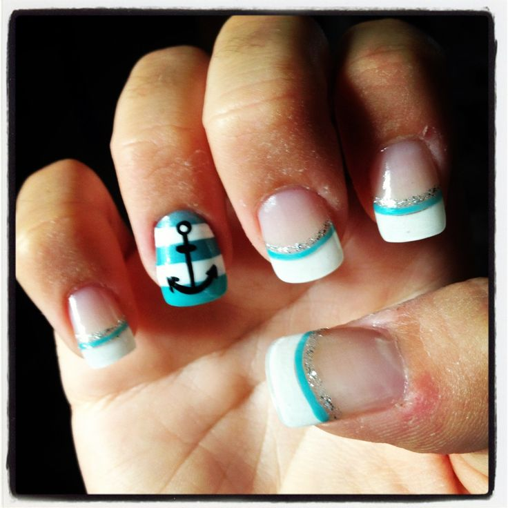 30 best nails images on pinterest acrylic nails anchor nail my anchor nails for florida prinsesfo Choice Image