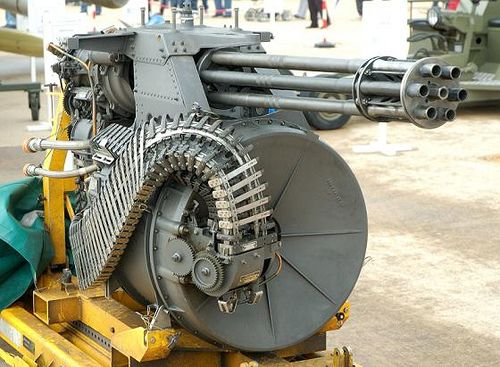 M61A2 20mm Auto-Cannon, Cyclic Rate: 6000 rounds per minute.