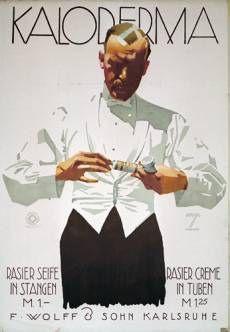 1927 Ludwig Hohlwein Kaloderma Shaving Cream poster