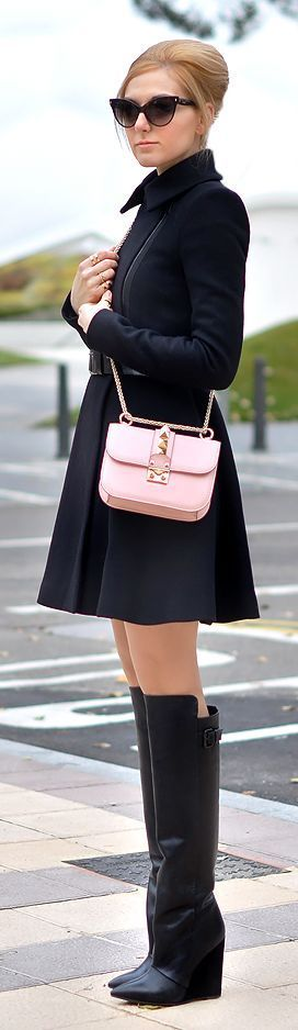 Fashionista: Beautiful Black Dress and Fantastic Bag