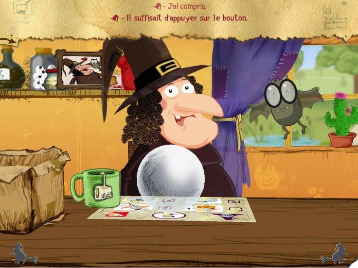 Un livre jeux interactif pour les enfants de 4-9 ans avec une sorcière..qui a perdu son nom !