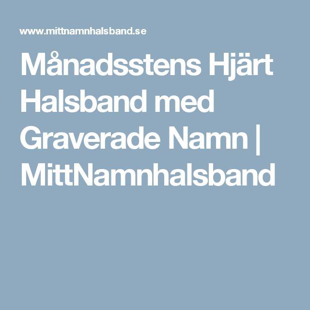Månadsstens Hjärt Halsband med Graverade Namn | MittNamnhalsband