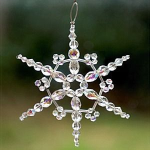 Christmas Tutorial - How To Make A Christmas Snowflake With Beads And Wire