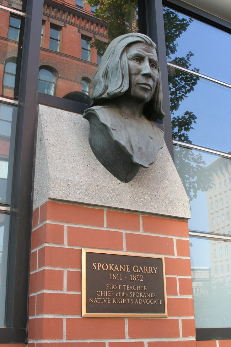 Chief Spokane Garry was a Native American leader of the Middle Spokane tribe who served as liason between the American Indian tribes and white settlers who came to the Spokane area.