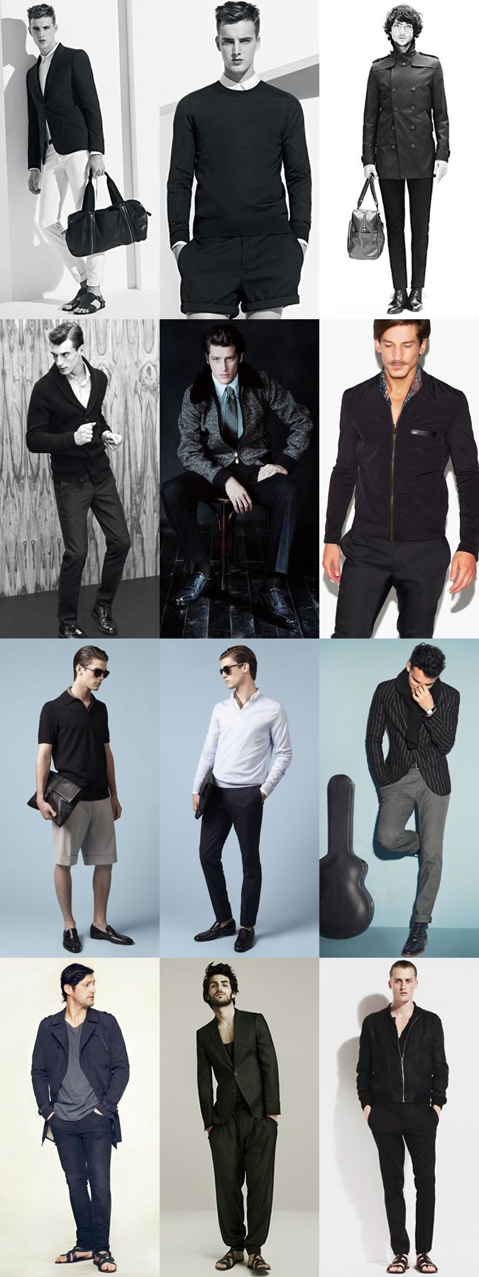More inspiration for my Summer 2013 Wardrobe. Men's Monochrome Tonal Outfit Lookbook Inspiration