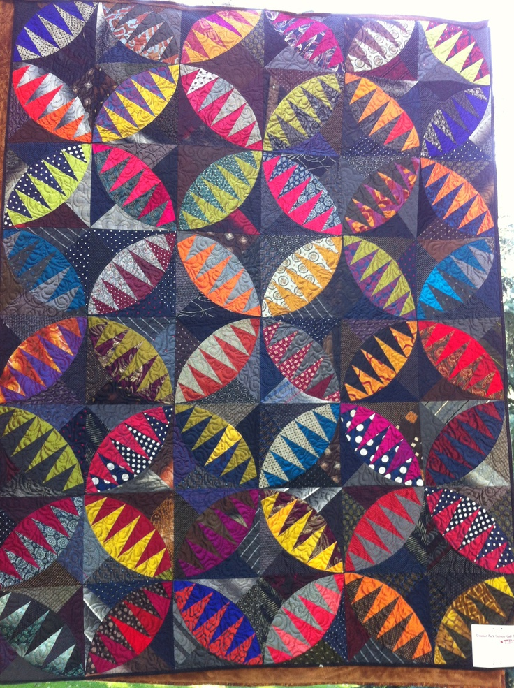 373 best Quilts: From Men's Ties images on Pinterest | Necktie ... : mens tie quilt - Adamdwight.com