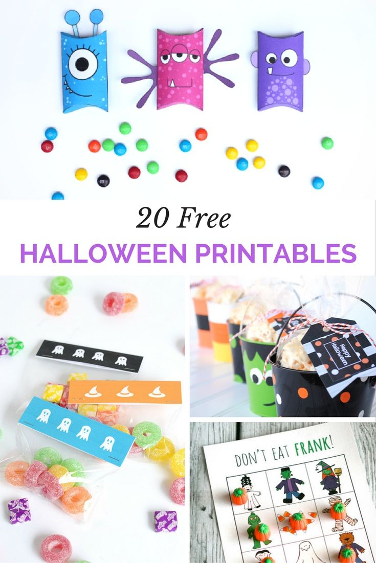 20 plus free halloween printables