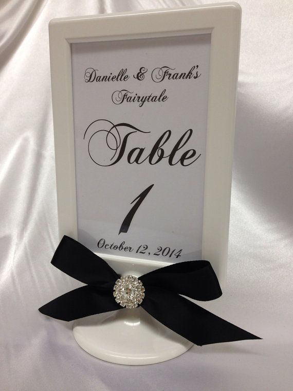 Set Of 10 White Pedestal Double Sided Wedding Frame 4x6 Table Number Included