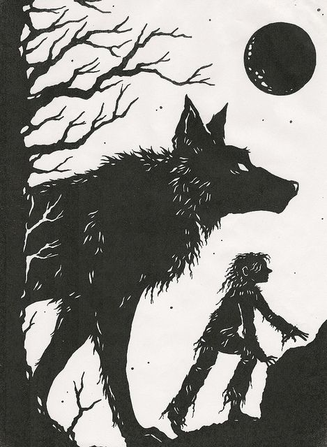 Greychild and the Wolf... by Steering for North, via Flickr