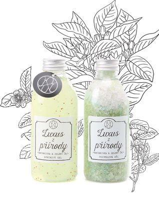 OJJU - Sada sprchového gelu a koupelové soli  Mandarinka a zelený čaj