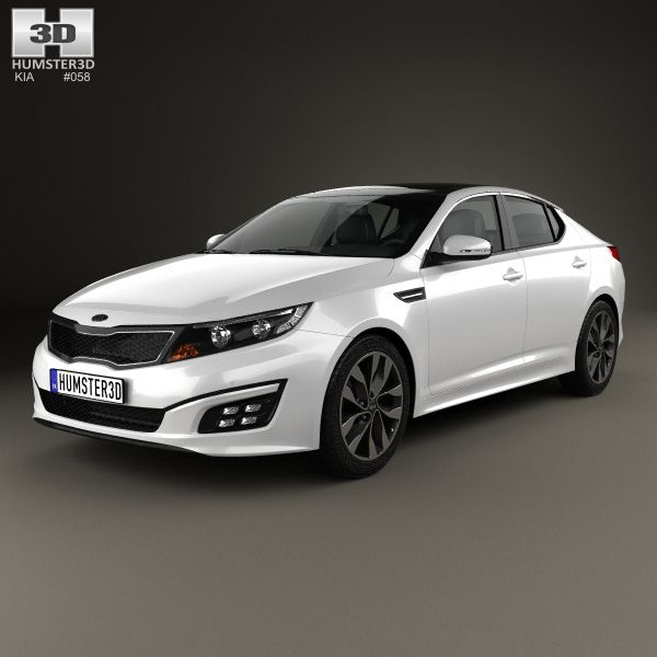 Kia Optima 2015 3d model from humster3d.com. Price: $75